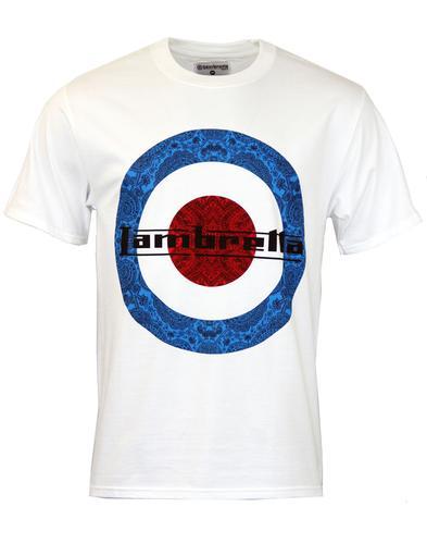 Paisley LAMBRETTA Retro 60s Mod Target T-Shirt