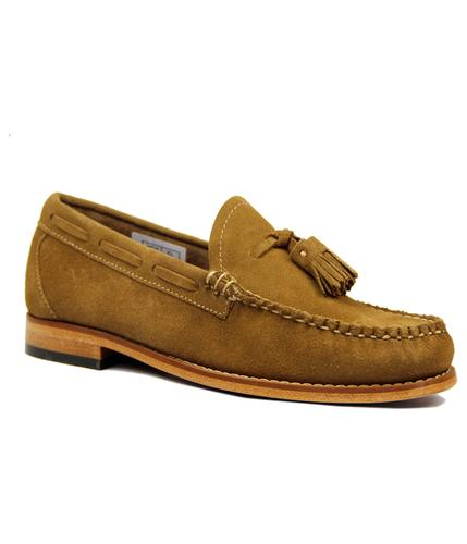 LARKIN SUEDE VELOUR TASSEL LOAFERS RETRO