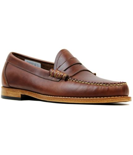 BASS WEEJUNS LARSON MOD PULL UP PENNY LOAFERS