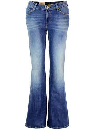 LEE ANNETTA RETRO 70S WIDE FLARE DENIM JEANS