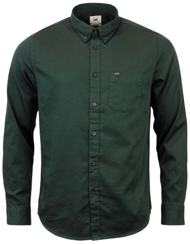 LEE RETRO MOD SIXTIES BUTTON DOWN TWO TONE SHIRT