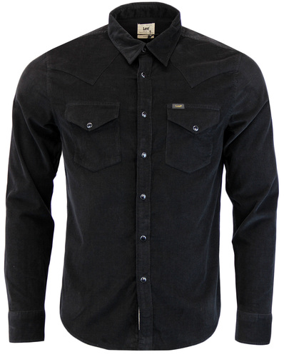 LEE RETRO MOD 60S MENS CORD WESTERN SHIRT