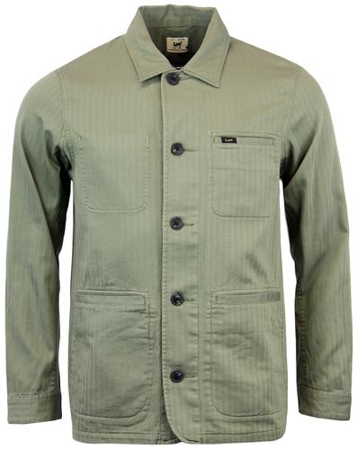 LEE RETRO INDIE MILITARY WORKER JACKET GREEN