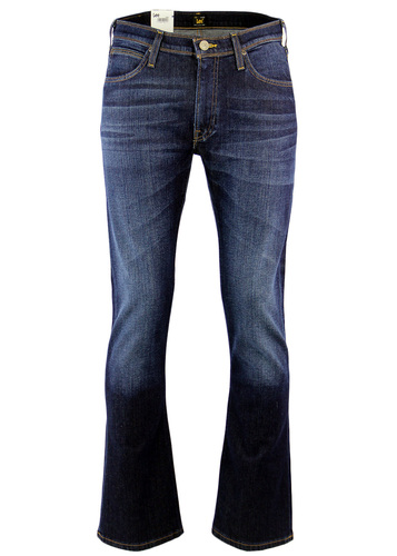 LEE TRENTON 1970S BOOTCUT DENIM JEANS DARK BLUE