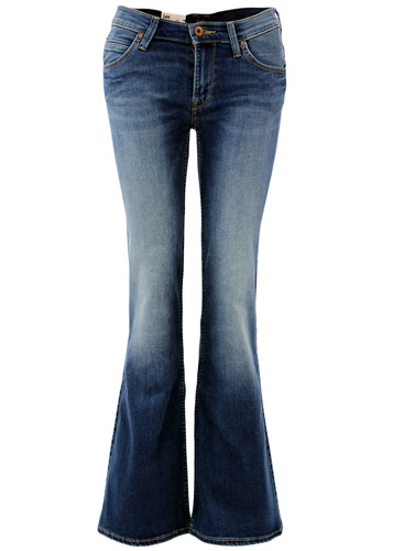 LEE WOMENS ANNETTA BLUE LAGOON DENIM FLARES