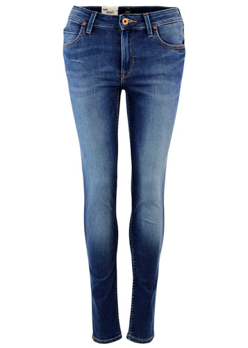 LEE JODEE RETRO SUPER SKINNY ONE WASH DENIM JEANS
