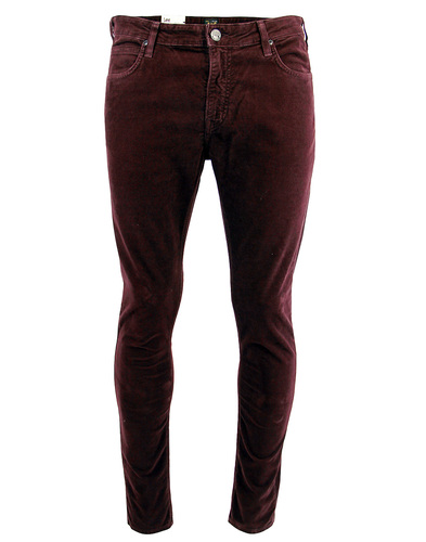 lee malone skinny cord jeans plum