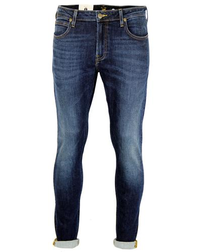 Malone LEE Retro Blue Notes Skinny Drainpipe Jeans