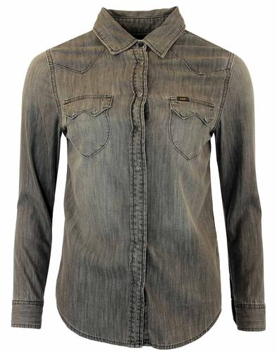 EE WESTERN RIDER BLUE ON BLUE DENIM RETRO SHIRT