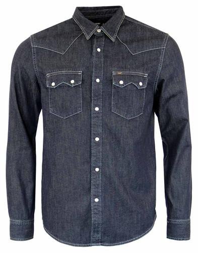 LEE RIDER DENIM RETRO SHIRT BLUE TIDE