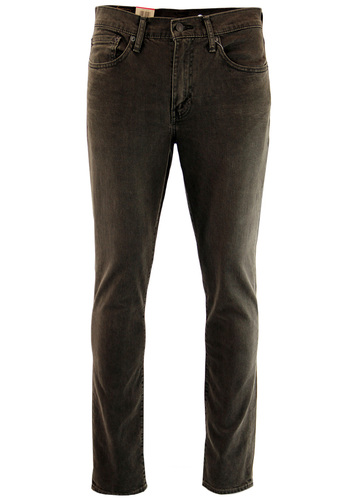 LEVIS 511 RETRO SLIM DENIM JEANS DEVILS BROWN