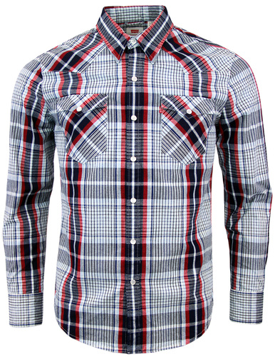 LEVIS BARSTOW RETRO 70S WESTERN CHECK SHIRT