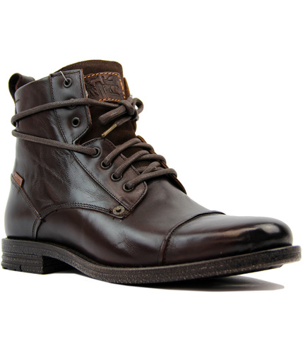LEVIS EMMERSON RETRO MOD LEATHER MILITARY BOOTS