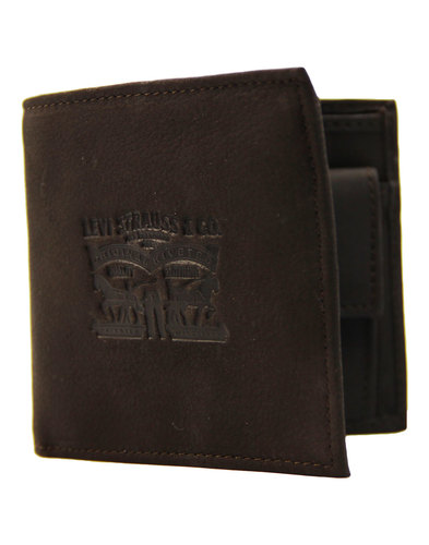 LEVI'S® Men's Retro Horse Logo Bifold Wallet BROWN