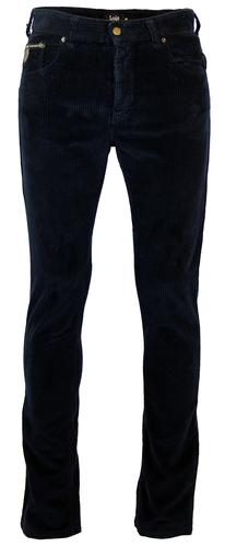 LOIS X PETER WERTH RETRO JUMBO CORD TROUSERS NAVY