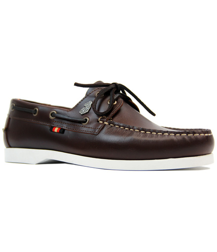 LUKE 1977 FRIGATE RETRO SIXTIES LEATHER BOAT SHOES