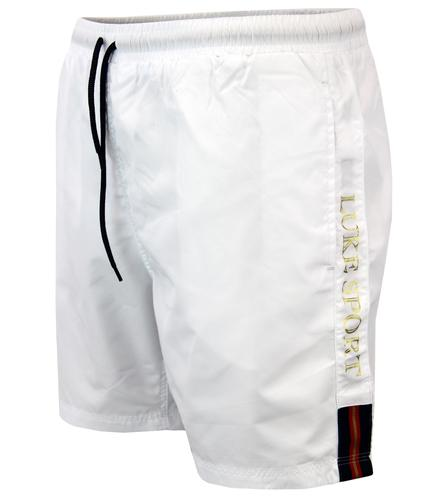 LUKE 1977 BARNESY RETRO INDIE TAPED SWIM SHORTS
