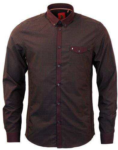 LUKE 1997 JAN THE MAN GINGHAM RETRO MOD SHIRT RED