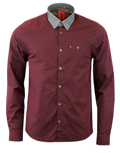Luke 1977 the chop contrast collar shirt