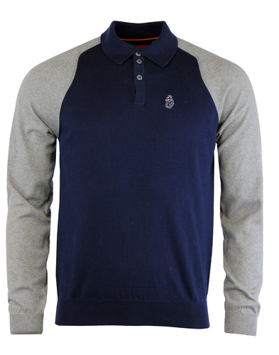 Luke 1977 whacker knitted polo navy
