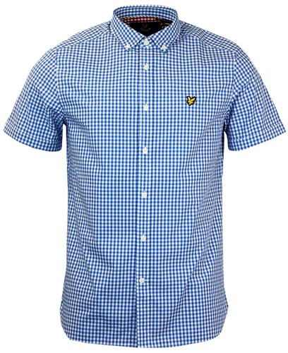 LYLE & SCOTT Retro 60s Button Down Gingham Shirt