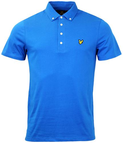 LYLE AND SCOTT RETRO MOD 60S JERSEY POLO BLUE