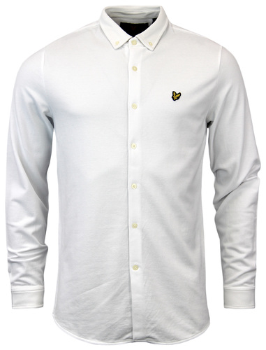 LYLE & SCOTT Retro Sixties Mod Mens Pique Shirt