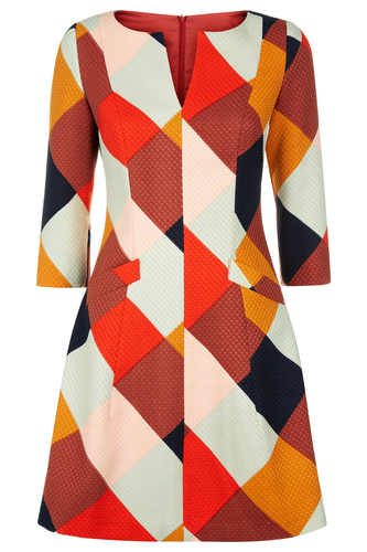 Traffic People Retro 70s Harmony Dress Red