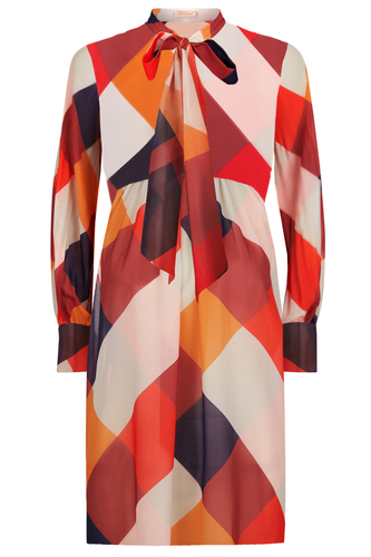 Traffic People Retro 70s Bow Dress