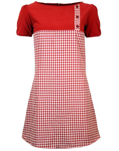 MADCAP ENGLAND MOD GINGHAM DRESS LUCY RED