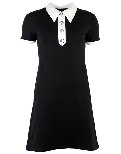 MADEMOISELLE YEYE APRICOT MOD SPEAR COLLAR DRESS