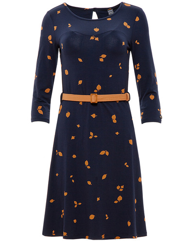 MADEMOISELLE YEYE BETH RETRO MOD 60S LEAF DRESS