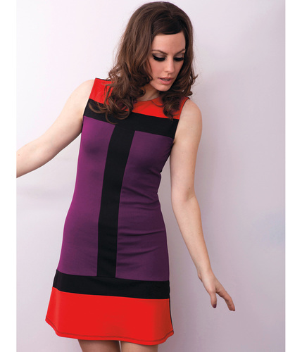 MADEMOISELLE YEYE CARLY 60S MOD COLOUR BLOCK DRESS