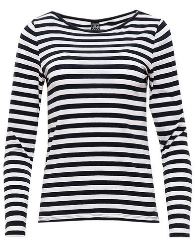 MADEMOISELLE YEYE MELANIE 1960S MOD STRIPED TOP