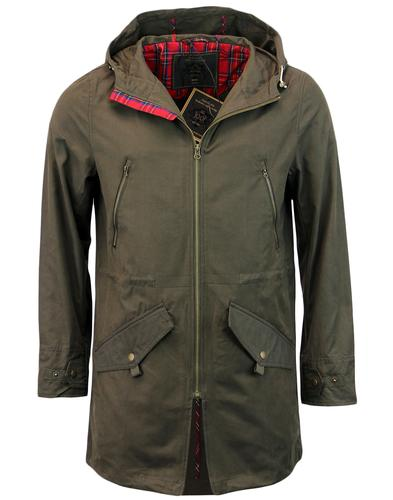 MERC BUCKLEY RETRO MOD HOODED PARKA JACKET