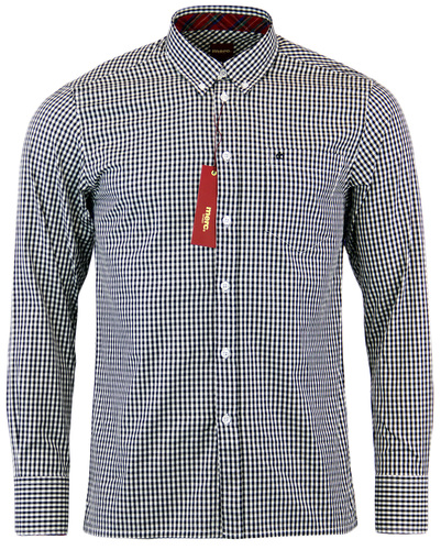 MERC RETRO MOD GINGHAM SHIRT JAPSTER BLACK