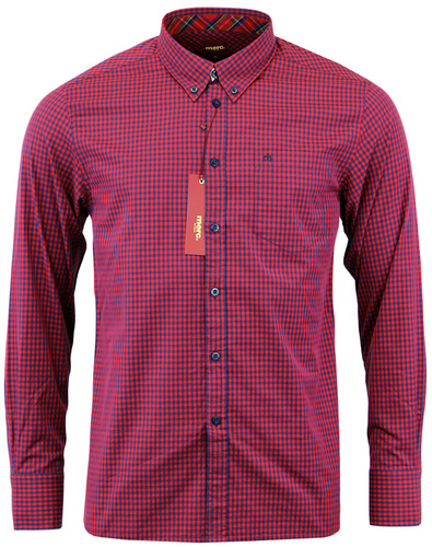 MERC RETRO MOD 70S GINGHAM SHIRT JAPSTER RED BLUE