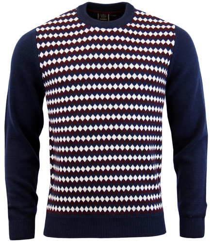 MERC ROXBY RETRO MOD 60S KNITTED JUMPER