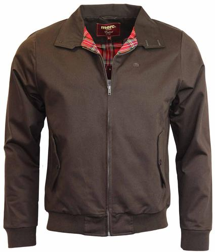 MERC HARRINGTON RETRO MOD JACKET BROWN