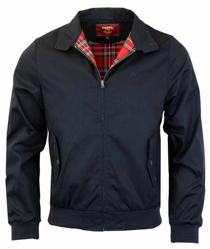 MERC HARRINGTON RETRO MOD JACKET NAVY