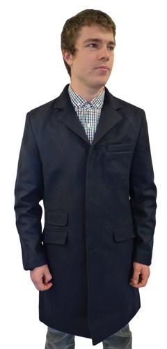 MERC CLOTHING MENS LORD JOHN OVERCOAT RETRO MOD