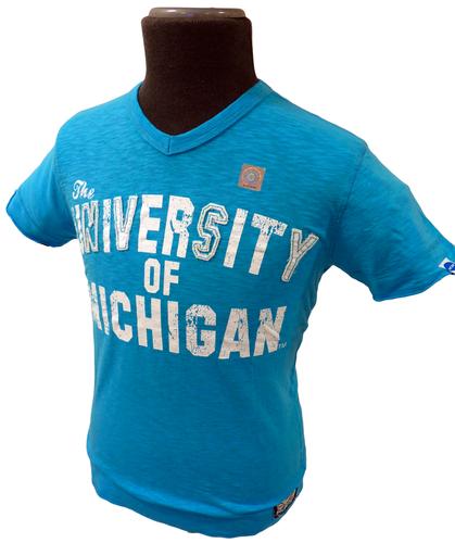 Michigan NCAA Collegiate Vintage V-Neck Tee C