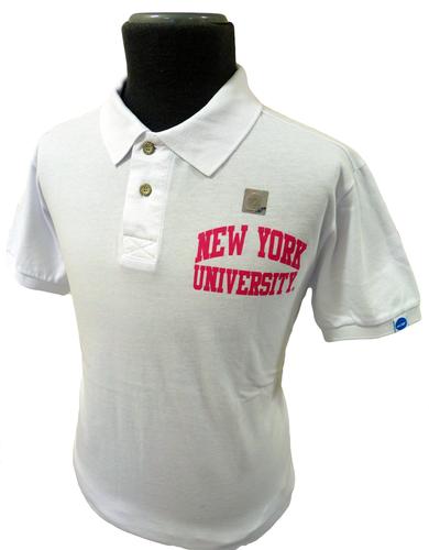 New York NCAA Collegiate Vintage Retro Jersey Polo