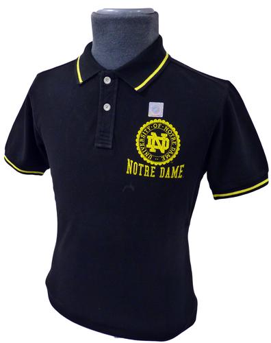 Notre Dame NCAA Collegiate Vintage Retro Polo (B)