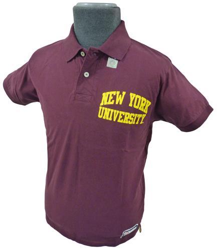NCAA COLLEGIATE VINTAGE NEW YORK UNIVERSITY POLO