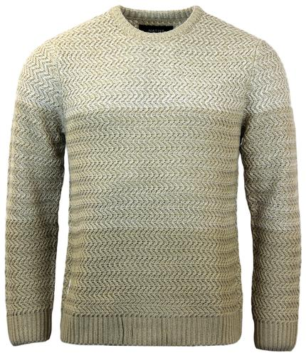 NATIVE YOUTH RETRO GRADIENT CHUNKY KNIT JUMPER