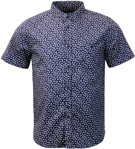 NATIVE YOUTH Retro Mod Pineapple Button Down Shirt