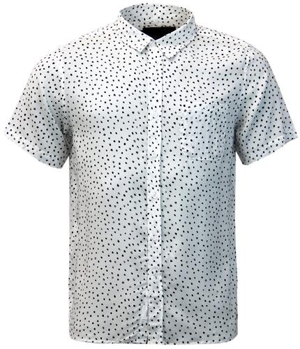 NATIVE YOUTH Retro Mod Paintbrush Polka Dot Shirt