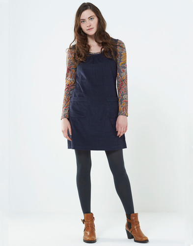 NOMADS RETRO 60S CORDUROY PINAFORE DRESS