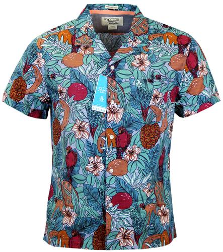 ORIGINAL PENGUIN CABANA RETRO 70S HAWAIIAN SHIRT